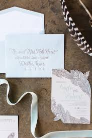 5x7 cut out feathers navajo wedding invitation with directions
