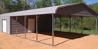 Building An Attached Carport Metal Buildings Wholesale Rv Carports Newdealmetalbuildings Com
