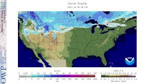 us cover map noaa us snowcover maps