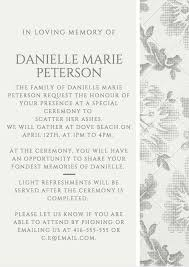 Words For A Wedding Invitation 39 Best Funeral Reception Invitations Love Lives On