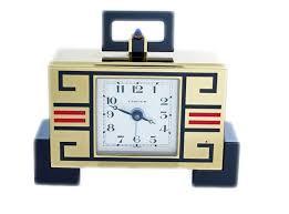 Desk Alarm Clock Enamel Cartier Deco Chinoise Alarm Desk Clock With