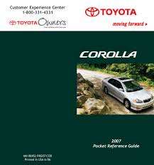 2007 toyota corolla owners manual just give me the damn manual