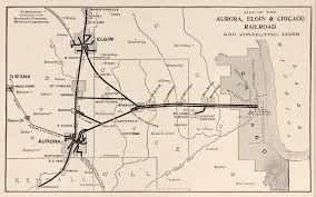 Chicago Map Art by Ca U0026e System Map Chicago Aurora U0026 Elgin Railroad Pinterest