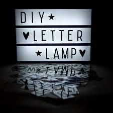 light box light bulbs lightbox diy letter l create your own message a4 black