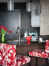 Red Ceramic Canisters For The Kitchen Glass Tile Backsplash Ideas Pictures U0026 Tips From Hgtv Hgtv