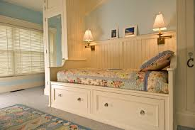 daybeds with trundles in bedroom traditional with daybed bedding