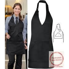 tablier cuisine femme tablier noir à bavette pour femme 1 poche poitrine 2 poches plaquées