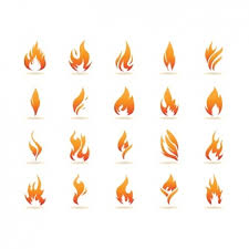 template with flames vector premium download