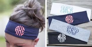 monogram headband monogrammed headbands for 9 99