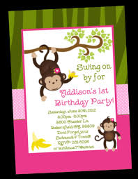 30th Birthday Invitation Cards Monkey Birthday Invitations U2013 Gangcraft Net