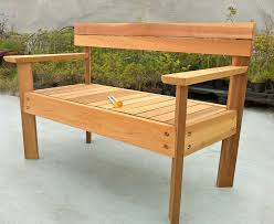 Diy Wooden Bench Seat Plans by Wooden Bench Garden Cheap Wood And Concrete Slab Garden Bench