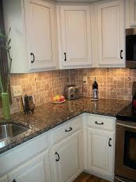 Cream Colored Kitchen Cabinets With White Appliances Brown Cabinets With White Appliances Exitallergy Com