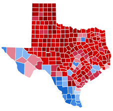 Tx Counties Map Election Results In The Third Dimension Metrocosm Texas Election