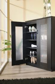 black cabinet with glass doors modern black cabinet for shoe storage idea with frosted glass doors