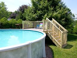 how to install an above ground pool stairs