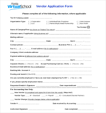 10 vendor application templates u2013 free sample example format