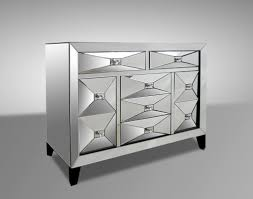 contemporary mirrored dresser