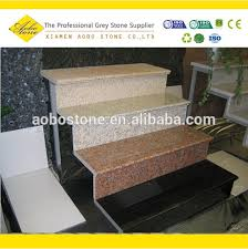 Black G654 Granite Stairs Design Outdoor Stone Steps Risers