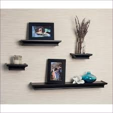 living room marvelous 4 floating shelves small oak floating
