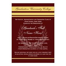 formal college graduation announcements maroon zazzle