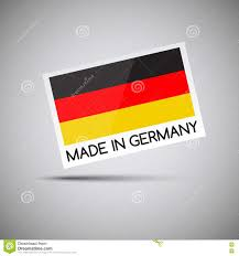 The Germany Flag Vector Card Made In Germany With German Flag Stock Vector Image