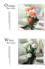 Factoryhome by Wholesale Factory Home Decor Pe Fake Plastic Single Rose