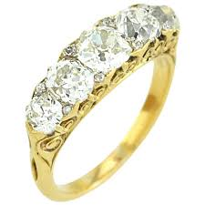 old wedding rings images Stunning victorian five stone old mine cut diamond ring for sale jpg