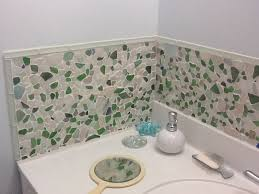 sea glass bathroom ideas sea glass tile backsplash ideas sea glass