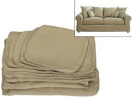 housse assise canapé housse canapé 3 places tissu clara 2 coloris