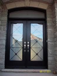 fiberglass front doors with glass fiberglass woodgrain double doors with iron glass design