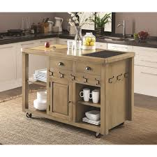 Kitchen Island And Carts Coaster Kitchen Carts Weathered Kitchen Island With Casters Del
