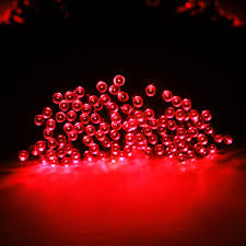 Solar Powered Outdoor Led String Lights by Zitrades 200 Led 20m 65ft Fairy Solar Power Led String Lights Red