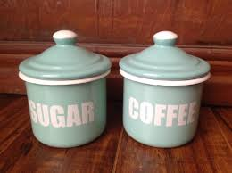 green canisters kitchen retro vintage french enamelware emalia olkusz 1907 enamelware