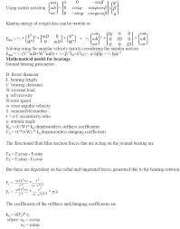 vibration monitoring mathematical modelling and analysis of