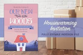 housewarming party invite woods invitation templates