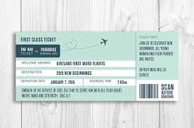 boarding pass invitations lds boarding pass invitation new beginnings evening of