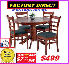 brand new dining suite 5 piece with pedestal leg table round high