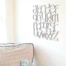 Abc Nursery Decor Nursery Alphabet Wall Bird Nursery Alphabet Letters Wall Decor
