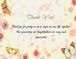 wedding thank you wording wedding thank you cards templates with