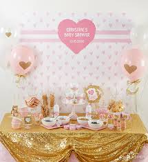 gold baby shower pink and gold baby shower for pennies