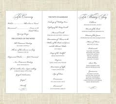 free tri fold wedding program templates tri fold program europe tripsleep co