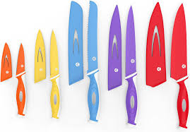 Good Kitchen Knives Set Amazon Com Vremi 10 Piece Colorful Knife Set 5 Kitchen Knives