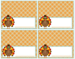 thanksgiving place card or food label thanksgiving table name