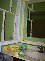 How To Frame A Bathroom Mirror Bathroom Mirror Makeover Decorative Paint Frame Without