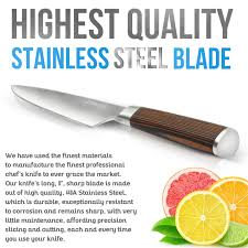 amazon com chef knife japanese style 8 inch multipurpose amazon com chef knife japanese style 8 inch multipurpose balanced ultra sharp professional knife carbon stainless steel blade ergonomic wood handle