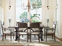 down home family double pedestal dining table in molasses by paula
