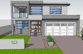cool inspiration revit 3d house plans 15 sketchup model on modern