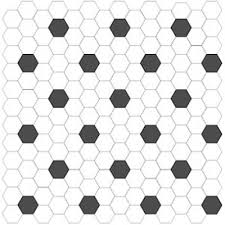 olean satinglo hexagon mosaic black white 8401 pattern