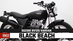 born black beach 125 suzuki rv125 vanvan motorcycle