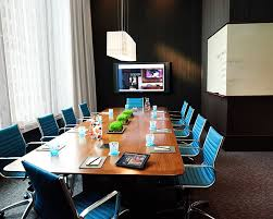 conference table with recessed monitors technology for corporate room types presentation products inc